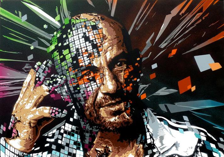 MJC Bussières - Visage Graff Pixel