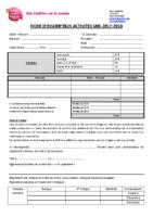 Fiche Inscriptions Activités 2017-2018