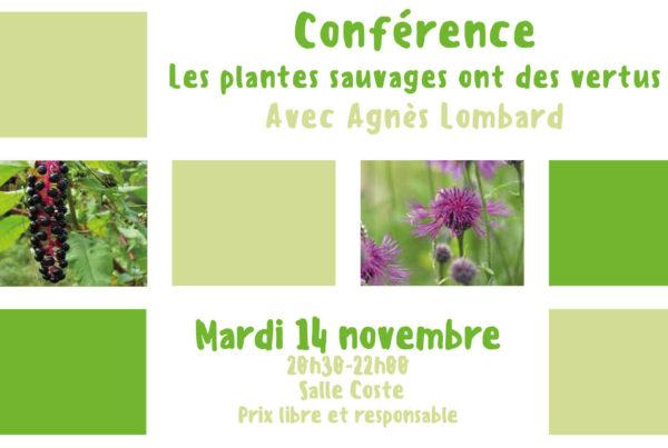 MJC Bussières - Conférence Les plantes sauvages ont des vertus