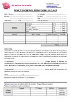 Fiche D'inscription 2018-2019