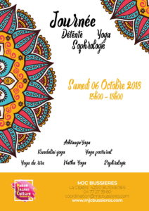 MJC Bussières - Yoga Sophro Affiche