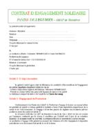 Contrat AMAP Legumes 2018 2019