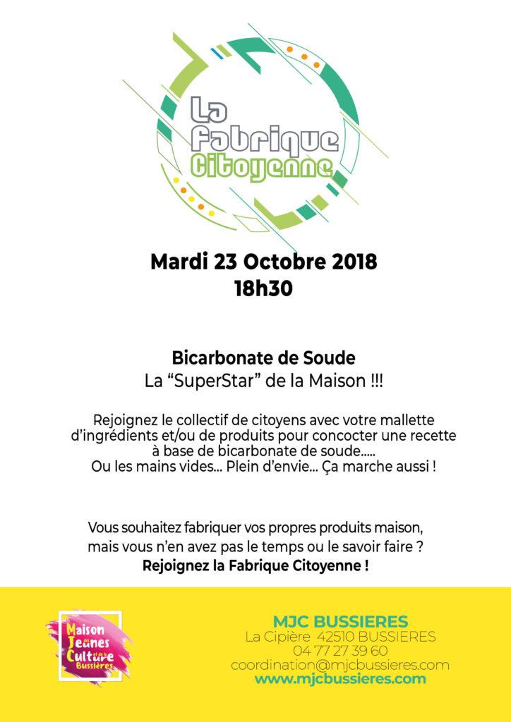 MJC Bussières - Fabrique citoyenne - NaHCO3