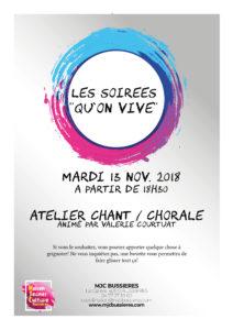 """MJC Bussières - Soirées """"Qu'on vive"""""""