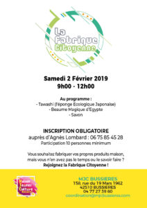 MJC Bussières - Fabrique citoyenne - Tawashi Beaume Savon