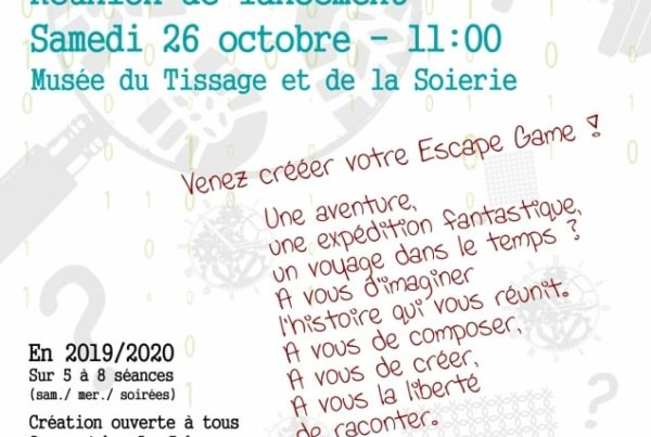 MJC Bussières - Affiche Escape Game 2019