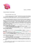 MJC Bussières – Courrier de rentrée intervenants 2020