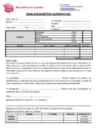 MJC Bussières – Fiche D'inscription 2020 – 2021