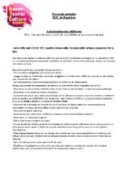 MJC Bussières – Protocole Adhérents