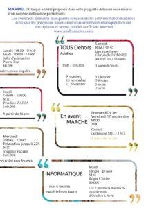 MJC Bussières - Activités 2021 - 2022 - 2
