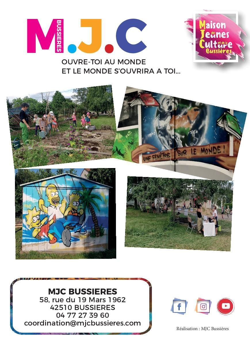 MJC Bussières - plaquette 2021-2022