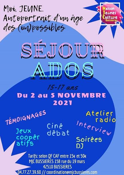 MJC Bussières - Séjour ados - novembre 2021